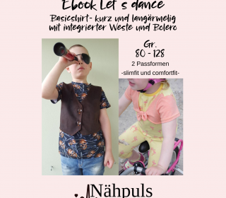 Ebook Kindershirt Let´s dance mit Bolero und Weste
