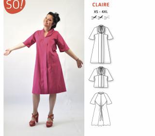 Ebook - Bluse/Kleid CLAIRE von SO Pattern | XS - 4XL