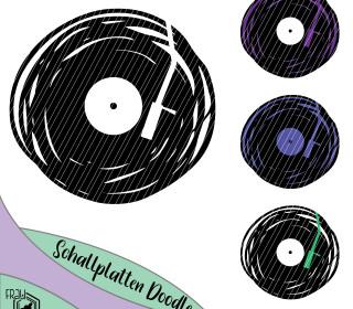Schallplatte * Doodleplott  * Frau_Sabse