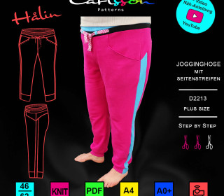 HALIN D2213 Jogginghose Damen Plus-Size 46-62 Carlsson Patterns