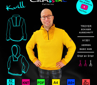 KVILL H1301 - Troyer - Basic Size 42-58 - CarlssonPatterns