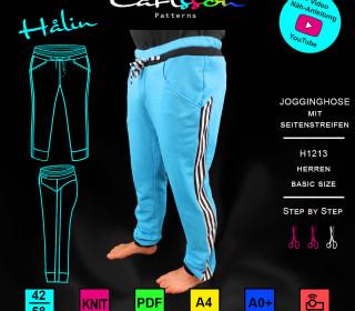 HALIN H1213 Jogginghose Herren Basic 42-58 Carlsson Patterns