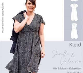 Kleid Damen – Schnittmuster Gr. 32-54 – SEVILLA-VALENCIA #108