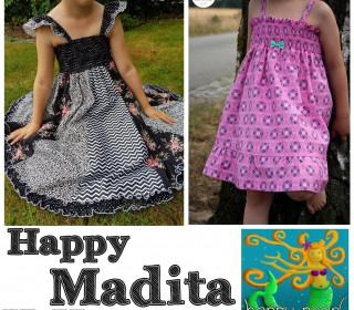 Happy Madita Hängerchen + Drehkleid Gr 74-152 von Happy Pearl