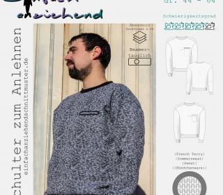 Sweater Schulter zum Anlehnen Gr. 44 - 64
