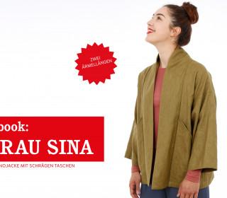 e-book FRAU SINA - Kimonojacke mit schrägen Taschen, XS - XXL