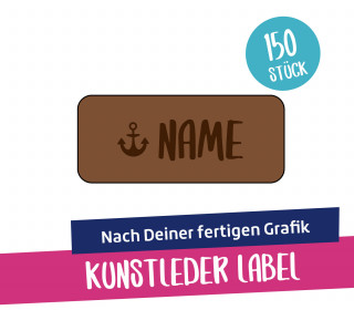 150 Artwork-Kunstleder-Label