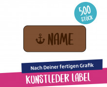500 Artwork-Kunstleder-Label