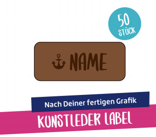 50 Artwork-Kunstleder-Label