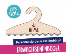 1 personalisierbarer Kleiderbügel - Erwachsenenbügel