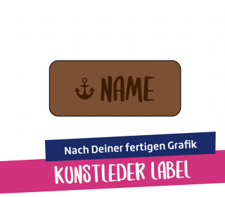 Artwork-Kunstleder-Label