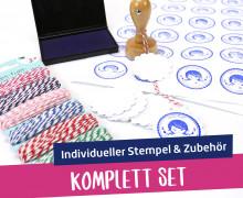Komplett Set mit individuellem Stempel & Zubehör