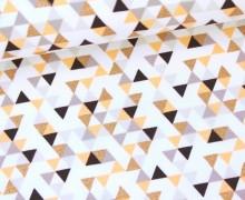 Sommersweat - Ethno Glam - Dreiecke - Weiß