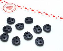 10 Kordelstopper - Eckig - Schwarzblau - ø 0,5cm