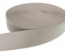 1m Gummiband - elastisch - Glitzer - 50mm - Braun