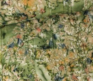 Fashionstoff - Batik - Rüschen - Grün