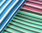 Strickstoff -  Streifen - Strickoptik - Blau