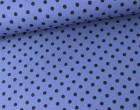 Jersey - Punkte - Dots - 6mm - Taubenblau/Schwarz