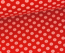 Glattes Bündchen - Sternenkreis - Rot