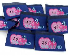 10 fertige Schulkind Label - Apfel - Wurm - Blau