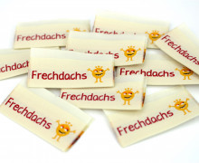 10 fertige Label - Frechdachs - Hellbeige