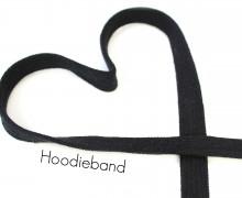 1m flache Kordel - Hoodieband - Kapuzenband - Schwarz