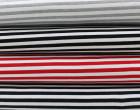Sommersweat - Breite Streifen - Grau/Weiß