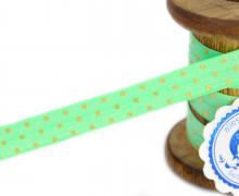 1m Faltgummi - Faltband - Punkte - Mint