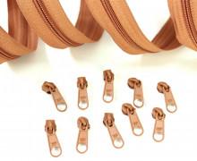 2m Endlosreißverschluss *B*+10 Zipper Hellbraun(280)