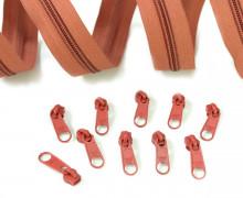 2m Endlosreißverschluss *B*+10 Zipper Mittelbraun(285)