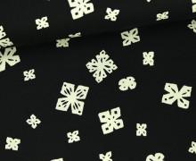 Stoff - Papierschnitt - Black and White - Alexia Marcelle Abegg - Schwarz