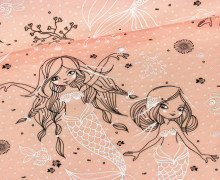 Jersey - Water Symphony - Meerjungfrau - NIKIKO - Apricot (Mengeneinheit: 0,5m)