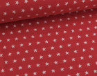 Jacquard - Doubleface - Sterne - Streifen - Rot