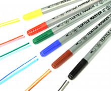 6 Stoffmalstifte - Textilstifte - Textilmarker - Set