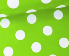 Wachstuch - Punkte - Dots - Hellgrün