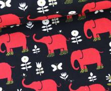 Canvas - Elefanten - Nordic Animal - KOKKA - Schwarz