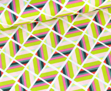 Stoff - Angle Folie Pristine - Art Gallery - Rosa/Gelbgrün