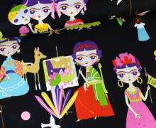 Stoff - Esperanza - Frida Kahlo - Alexander Henry - Schwarz