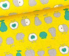 Canvas - Äpfel und Birnen - KOKKA - Gelb