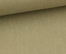 Viskose Leinen - Khaki - Uni - Leinenstoff