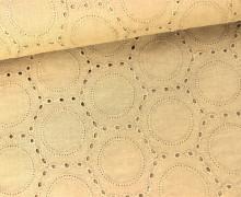Baumwolle mit Stickerei - Ornamente - Beige
