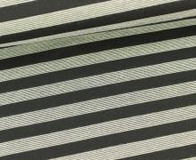 Romanit - kleine Streifen - Stripes - Beige/Schwar