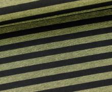 Romanit - kleine Streifen - Stripes - Olive/Schwar