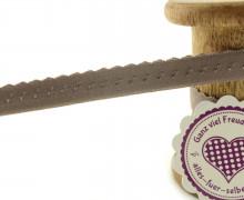 1m Faltgummi - Faltband - 12mm - Mini Herzen - Steingrau