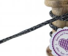 1m Hoodieband - Schmale Kordel - 5mm - Schwarz/Weiß