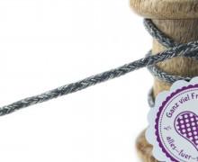 1m Hoodieband - Schmale Kordel - 5mm - Anthrazit/Weiß