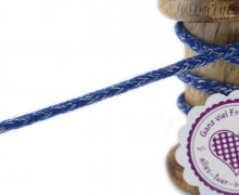 1m Hoodieband - Schmale Kordel - 5mm - Dunkelblau/Weiß