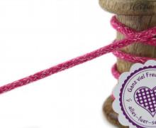 1m Hoodieband - Schmale Kordel - 5mm - Pink/Weiß