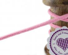 1m Hoodieband - Schmale Kordel - 5mm - Rosa/Weiß