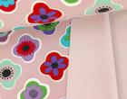 Softshell - Fleece - Blumen - Flower - Altrosa